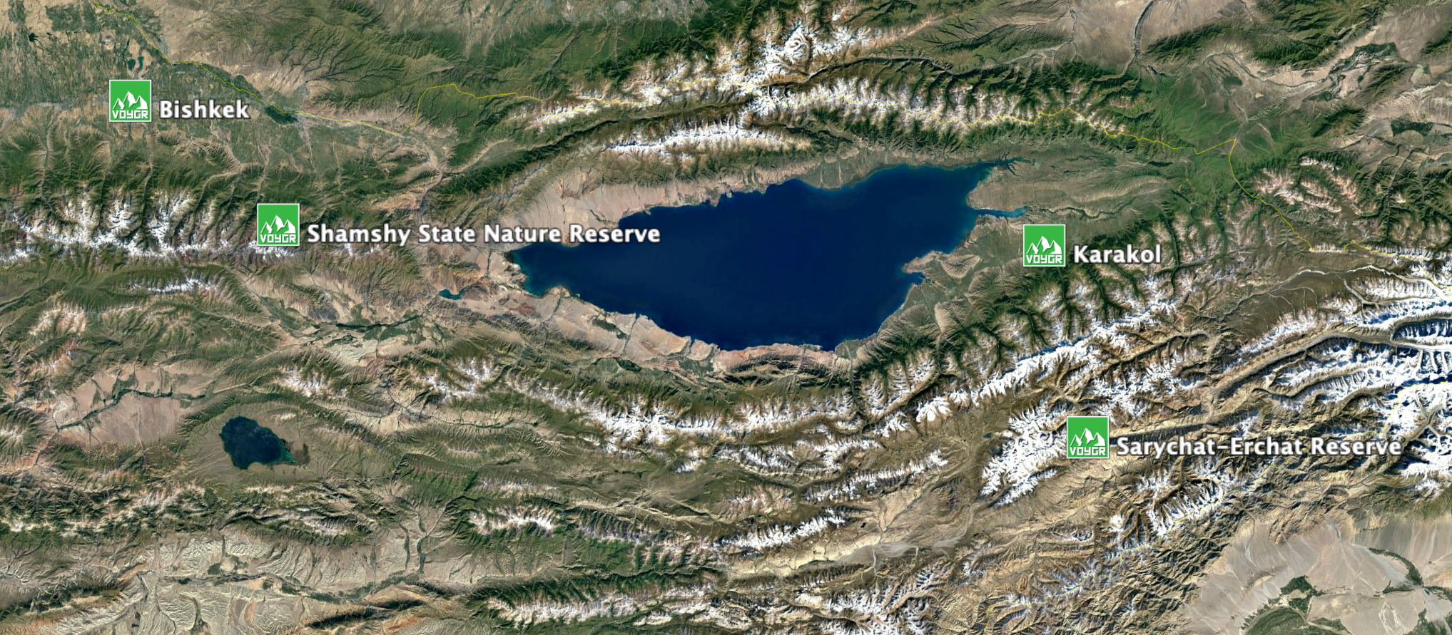 Overview-map Of Snow Leopard Expedition To Kyrgyzstan