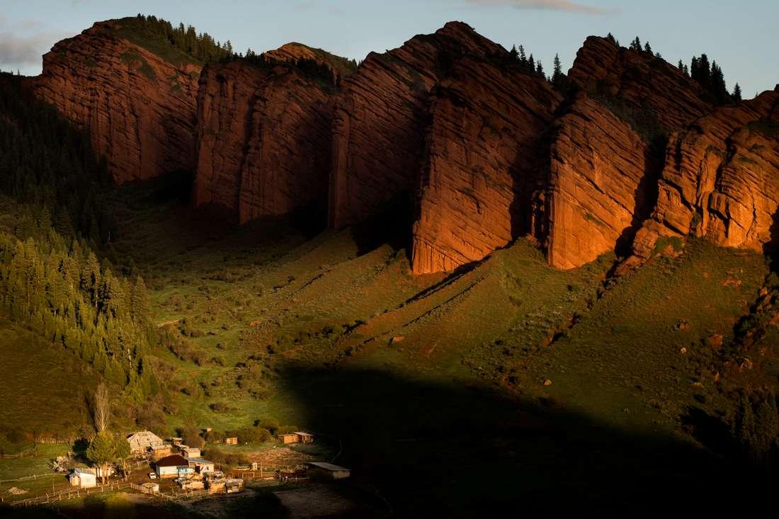 Cliffs Near Issyk-kul Lake