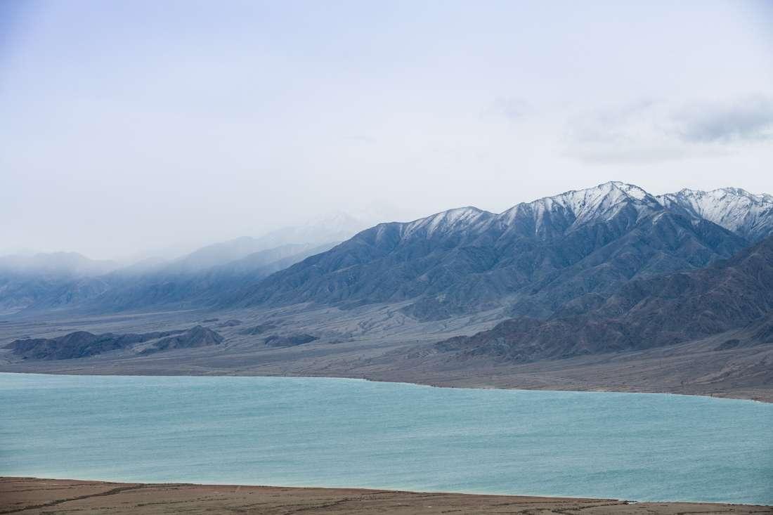 A High-altitude Lake On The Way To Ak-Shirak